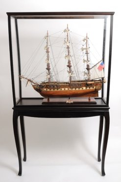 Preassembled  Tall Ship Display Cases - With Legs