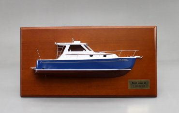 Back Cove 29 Detailed Half Hull Model - 18 Inch