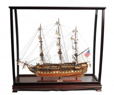 Table Top Display Case with USS Constitution