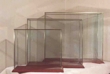 Glass with Brass Frame Display Cases