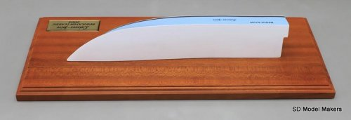 Regulator 23 Simple Half Hull Model - 15 Inch