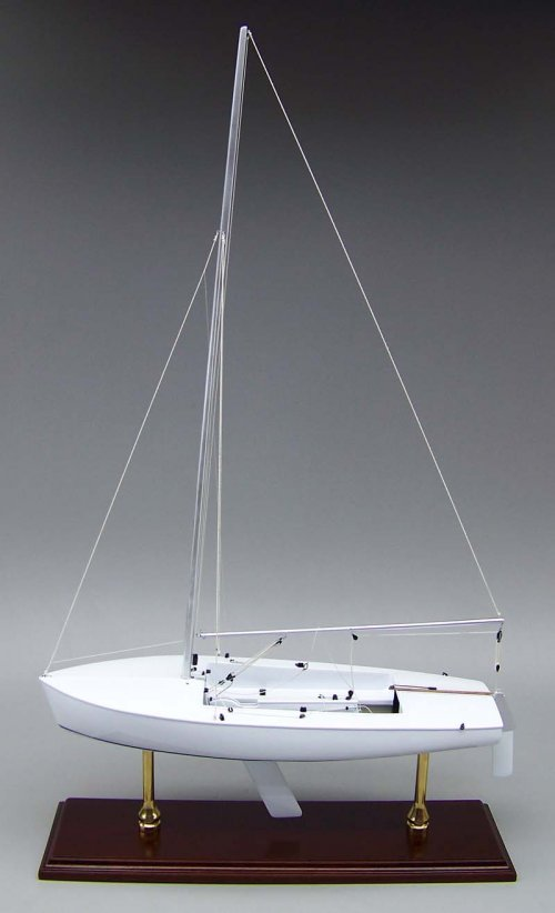SD Model Makers > Custom Sailboat Models > Flying Scot- 19 Inch Model