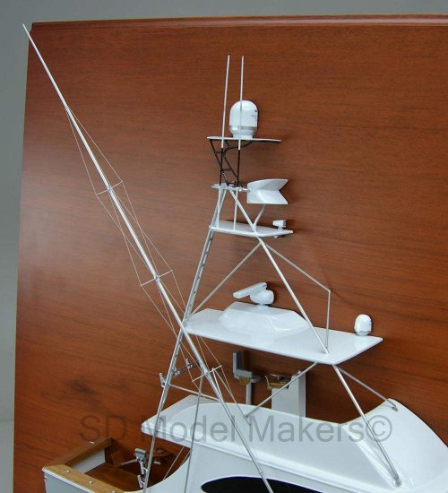 Spencer 54 - Detailed Half Hull Model - 28 Inch