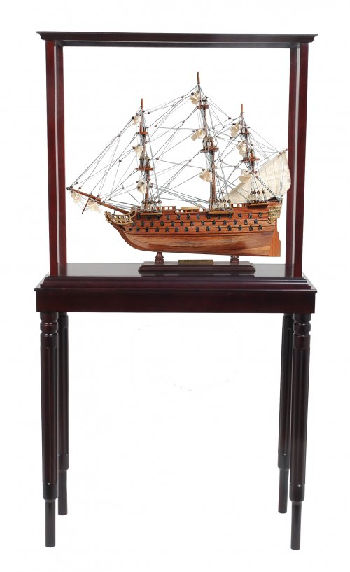 Floor Display Case with HMS Surprise Large
